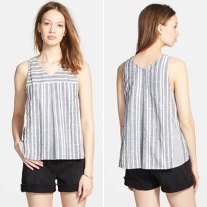 Madewell Striped Trapeze Cropped Tank Size 4
